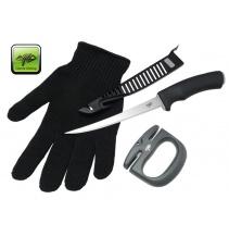 Sada nůž, rukavice a brousek Combo Filet