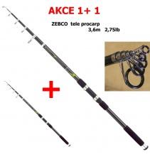 AKCE 1+1 ZEBCO  X 3,6m 2,75lbs