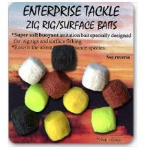 Enterprise zig rig nástrahy - Ultra plovoucí černé 10ks