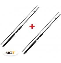NGT Prut Carp Stalker Rod 8ft/2pc black 1+1 ZDARMA!