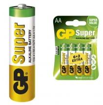 Baterie LR6 GP SUPER - veľkost AA - 8ks