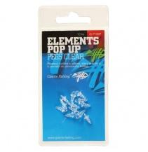 Držák nástrahy Elements Pop-Up Pegs Clear,10ks
