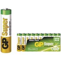 Baterie LR03 GP SUPER - veľkosť AAA - 10ks