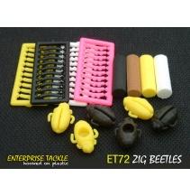 Enterprise zig rig nástrahy - Plovoucí brouci se zarážkami 6+4+4ks