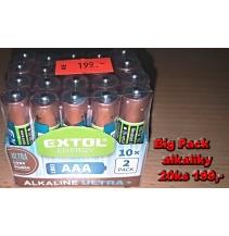 Big pack Alkaliky AAA 20ks