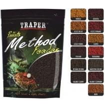 Traper Pellets method feeder 4mm  500g jahoda