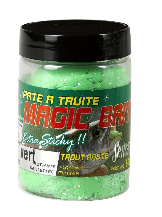Těsto na pstruhy MAGIC BAIT zelená 50g