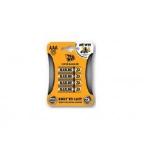 Alkalická baterie JCB LR03 / AAA, blistr 4 ks