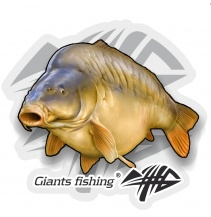Giants fishing Nálepka velká Kapr lysec