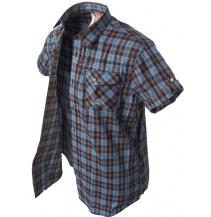 krátká košile Banga (blue / black / orange)
