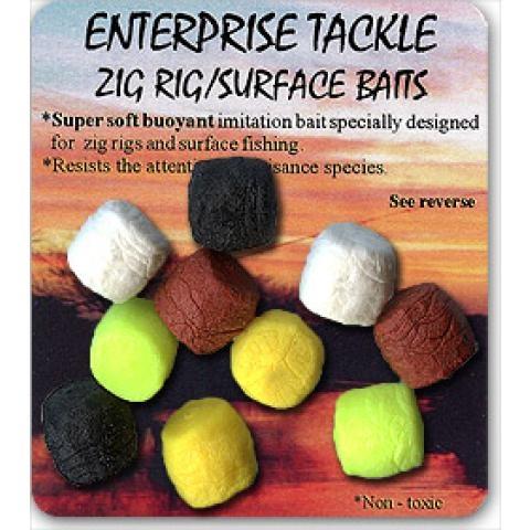 Enterprise zig rig nástrahy - Ultra plovoucí barevný mix 10ks