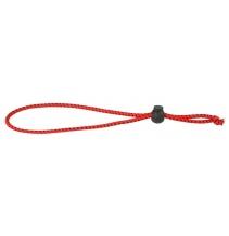 Gumka na  udici - 22cm / 3mm / RED-BLACK - 50 ks