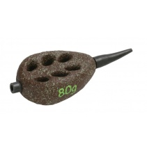 FLAT- Olověné krmítko krátké s protektorem (D.GREEN) - 100 g - 10 ks