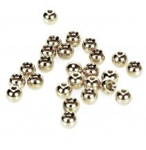 Hlavičky stříbrné - Beads Nickel 4,6 mm/100 ks