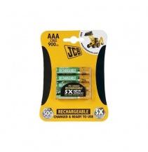 Nabíjecí baterie JCB RTU NiMH R03 / AAA, 900mAh blistr 4ks