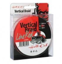 Hell-Cat Splétaná šňůra Braid Line Vertical Red 0.37mm, 33kg, 150m