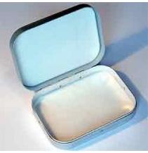 Krabička Foam stříbrná