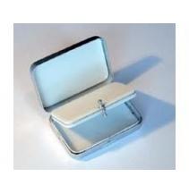 Krabička Foam stříbrná/hliník se středovým panelem