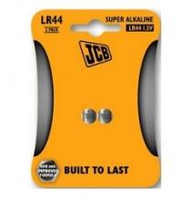 Knoflíková alkalická baterie JCB LR44, blistr 2 ks