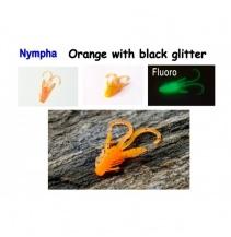 Nympha, 40 mm, 0,9 g Varianta: Orange with black glitter