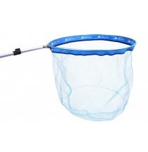 Podběrákový koš 60x50 - očko 6mm modrý rámeček - nylon