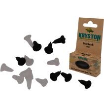 Kryston bižuterie - Háčkové zarážky černé 25ks