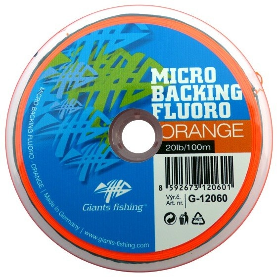 Micro Backing Fluoro-Orange 20lb/100m