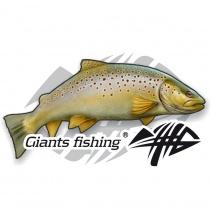 Giants fishing Nálepka malá - Pstruh