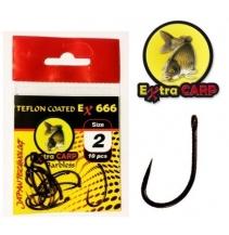 Extra Carp Teflon Hooks Barbless série Ex 666