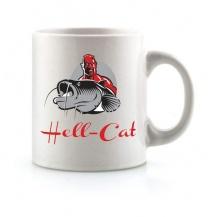 Hell-Cat hrnek bílý s logem