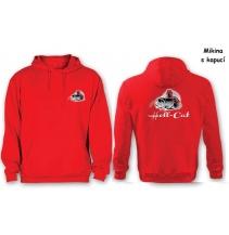 Mikina Hell-Cat klokánek s kapucí červená vel.M