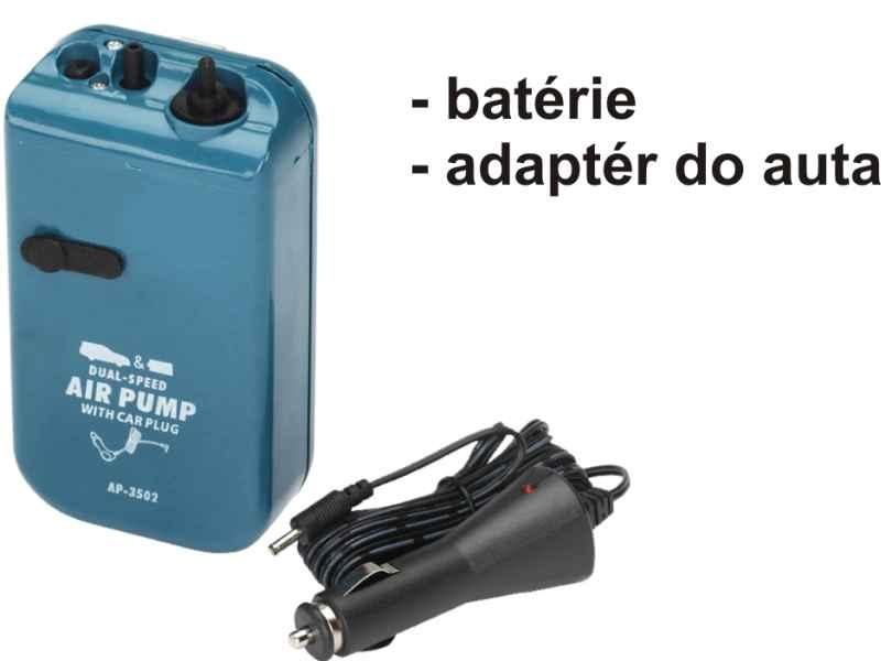 Vzduchovací motorek 2rychl., bater.+ auto