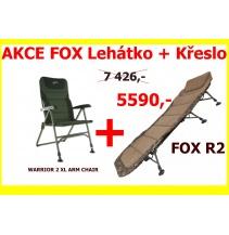 AKCE FOX Křeslo + Lehátko