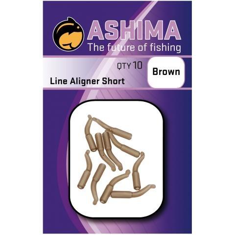 Ashima bižuterie - Rovnátko na háčky hnědé krátké 10ks