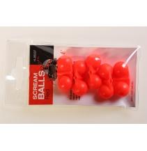 Chrastítko Scream Balls Red,5ks