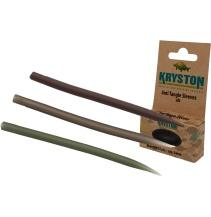 Kryston bižuterie - Krytky proti zamotání dlouhé zelené 25ks