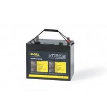 Lithiová baterie M-CELL 24V 50Ah + 10A nabíječka