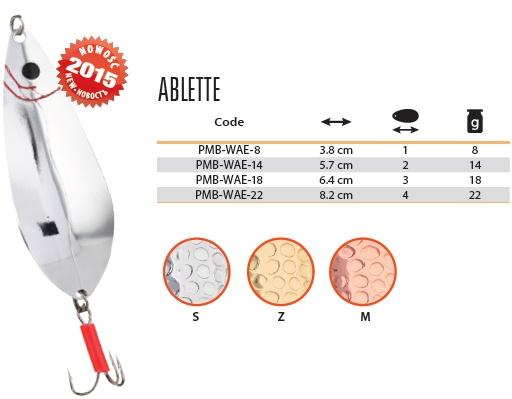 Třpytka - ABLETTE vel. 4 / 22 g / 8.2 cm - COPPER