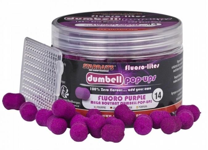 DUMBELLS FLUORO LITE 14mm 80g fialová