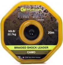 RidgeMonkey šoková šňůra Braided Shockleader 20m/50lb Camo