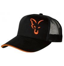 Fox Black & Orange Trucker Cap