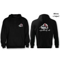 Mikina Hell-Cat klokánek s kapucí černá, vel.XL