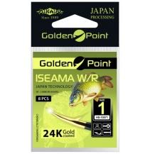 Háčky GOLDEN POINT - ISEAMA  1 GB Očko - 8 ks