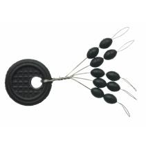 Zarážky Black Oval L (10ks)