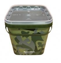 Bait-Tech Kbelík s víkem Camo Bucket and Lid 5 lit