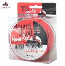 Hell-Cat Splétaná šňůra Round Braid Power Red 0,80mm, 100kg, 200m