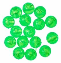 Korálek Carolina 6,5mm fluo zelený (15ks)