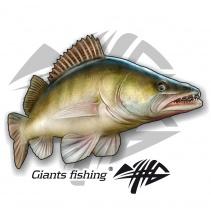 Giants fishing Nálepka velká - Candát