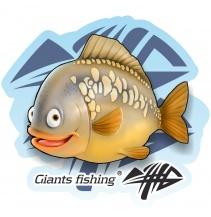 Giants fishing Nálepka velká - Kapr detský