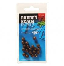 Giants fishing Gumové kuličky Rubber Beads Transparent Brown 5mm,20ks
